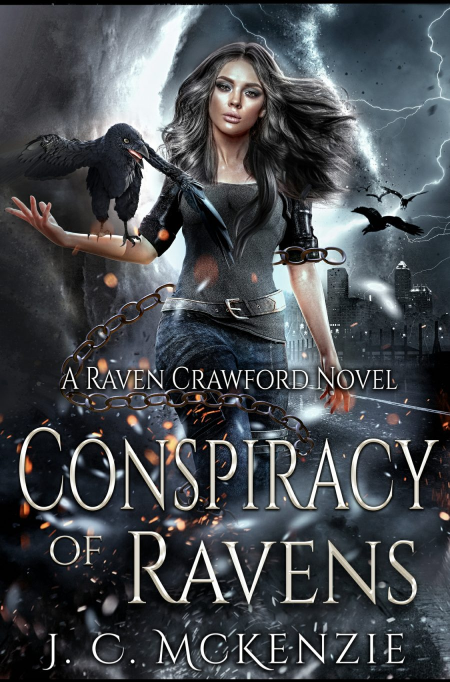 Conspiracy of Ravens by J.C. McKenzie - A Book Review #BookReview #UrbanFantasy #NewSeries #RavenCrawford #4Stars #InPaperback