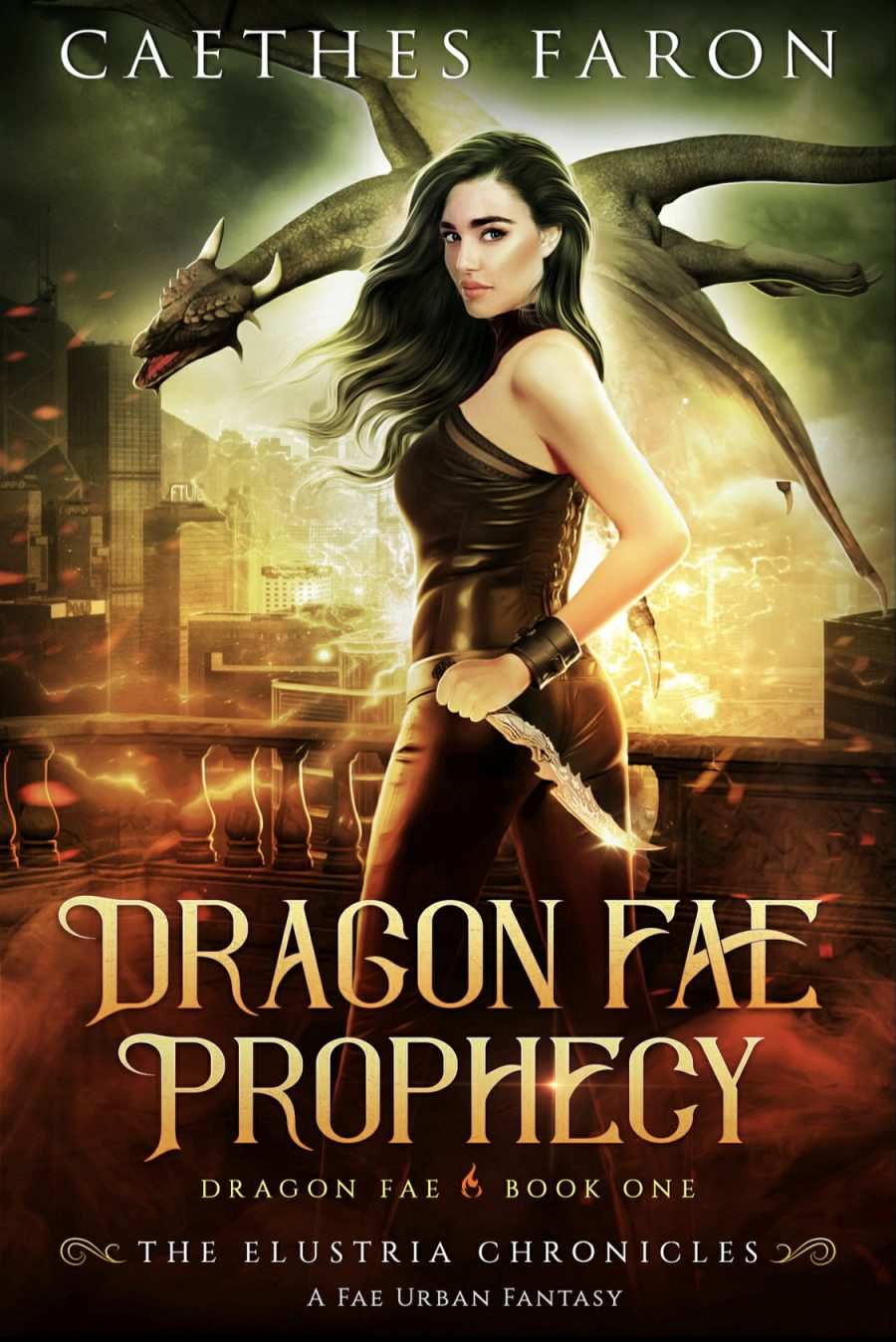 Dragon Fae Prophecy (Dragon Fae - Book 1) by Caethes Faron - A Book Review #BookReview #UrbanFantasy #Fae #Fantasy #UF #4Stars #KindleUnlimited #KU