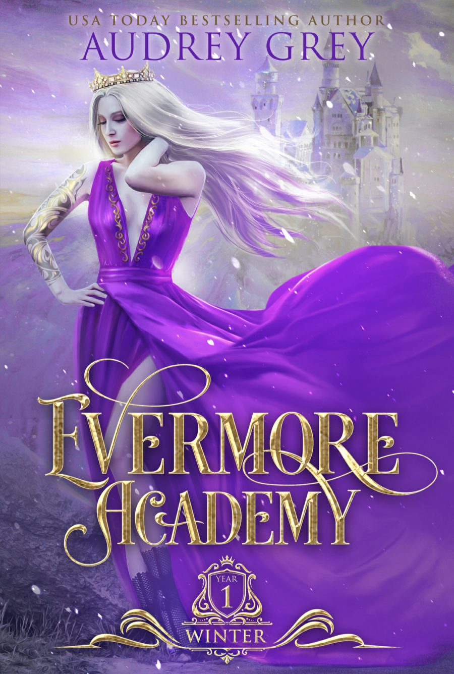 Winter: Year One (Evermore Academy - Book 1) by Audrey Grey - A Book Review #BookReview #Fantasy #UpperYA #4Stars #Fae #Academy #KindleUnlimited #KU