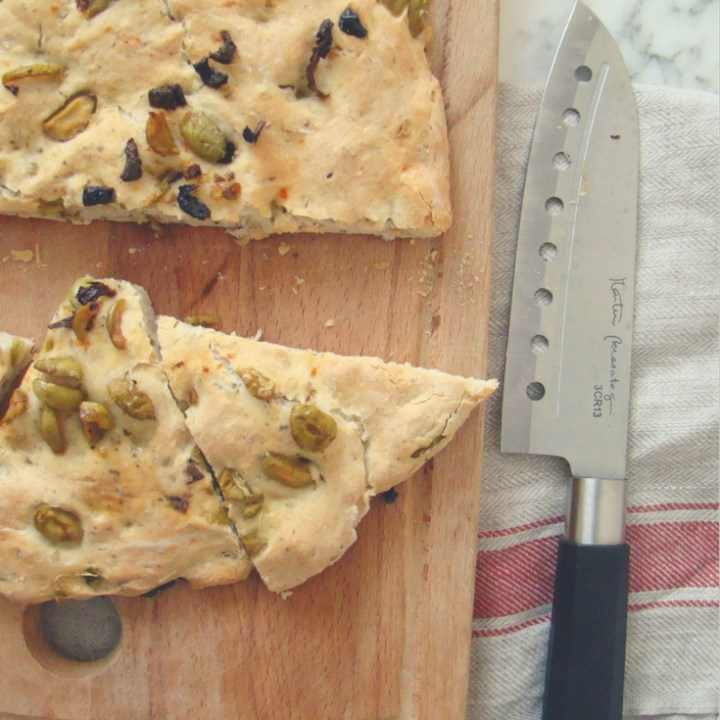Focaccia with Dried Tomatoes and Olives