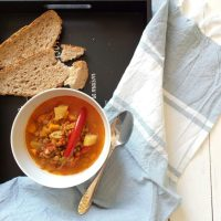 Lentil Soup with Chorizo Sausage