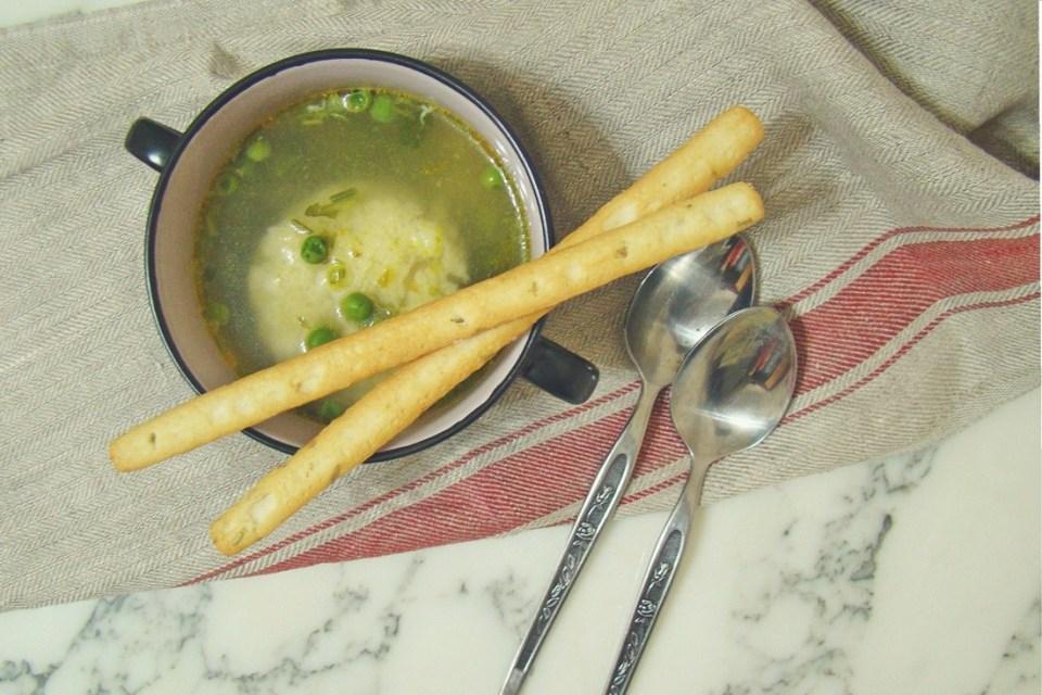 Peas and Dumplings Soup