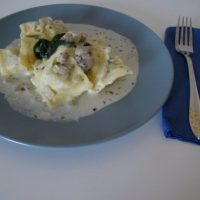 Ravioli with Mushroom and Ricotta