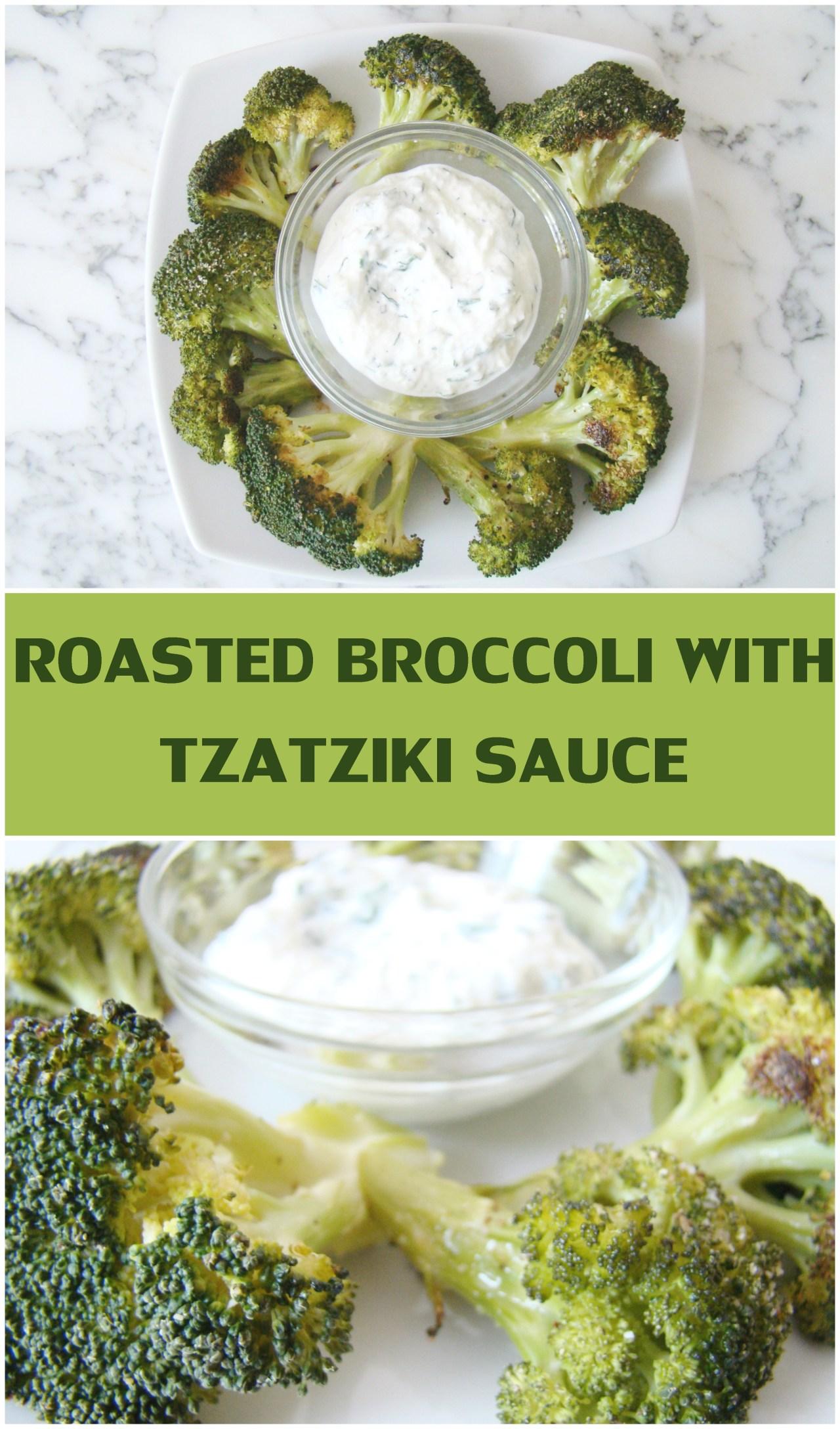 Roasted Broccoli with Tzatziki Sauce