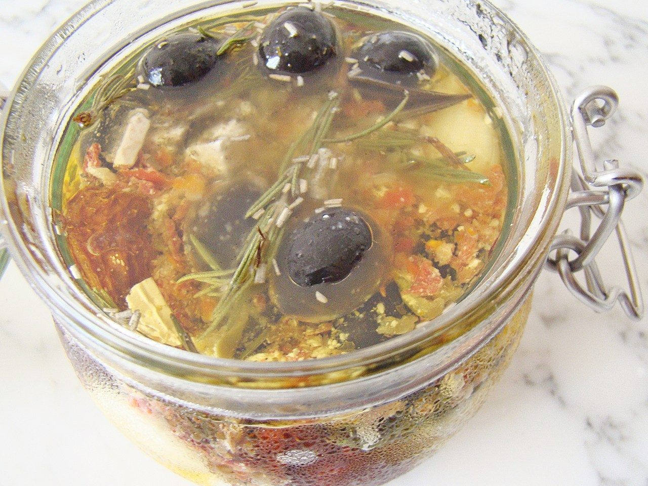 marinated olives and feta cheese