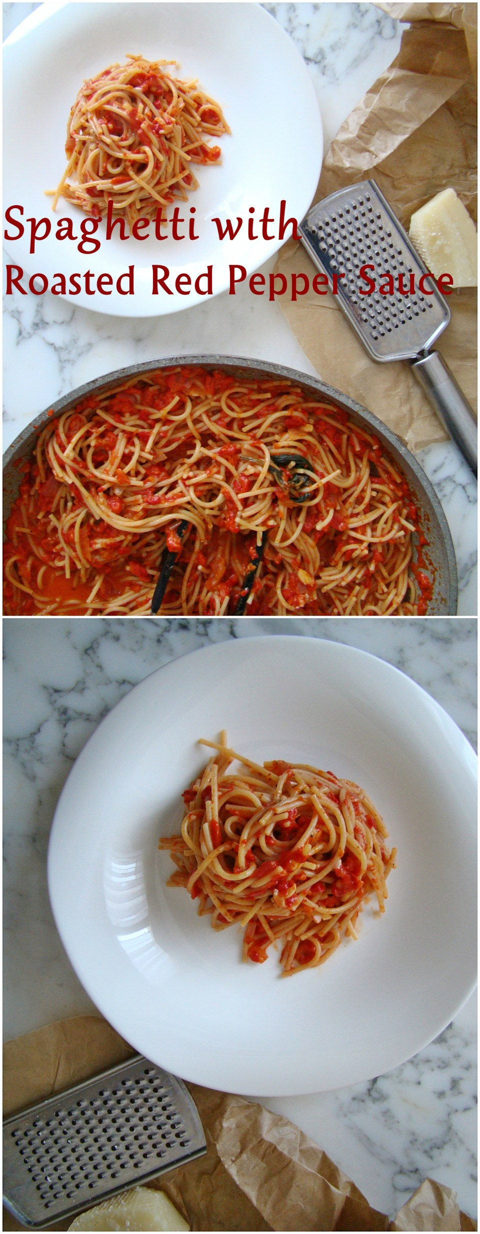 spaghetti-with-roasted-red-pepper-sauce