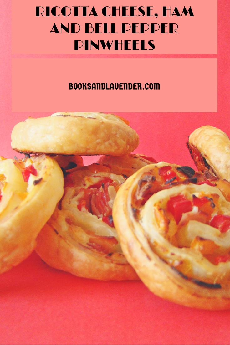 Ricotta, Ham and Bell Pepper Puff Pastry Pinwheels