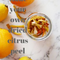 Make your own Dried Citrus Peel