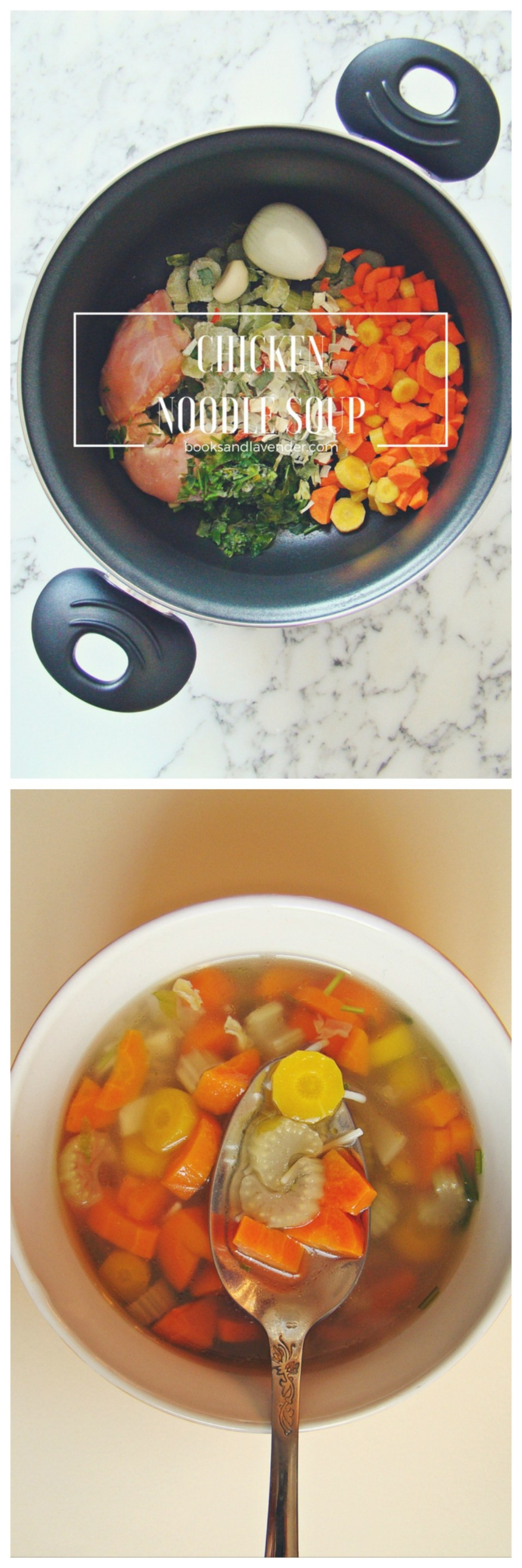 Quick and Easy Chicken Noodle Soup | booksandlavender.com