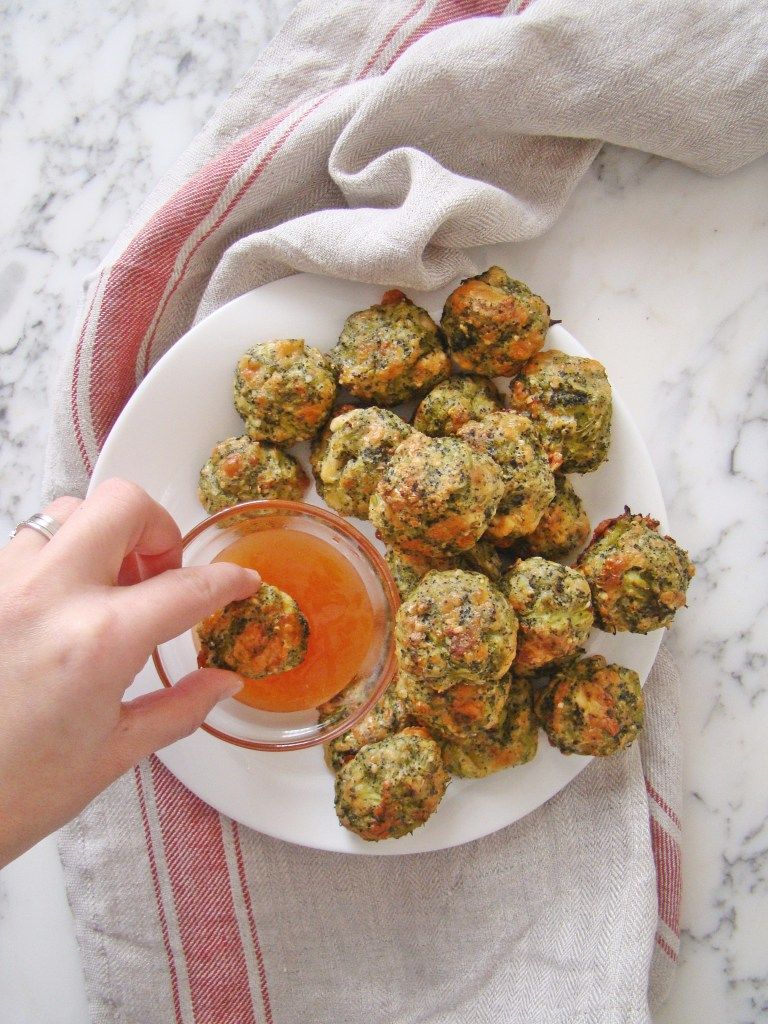 Healthy Baked Broccoli Bites