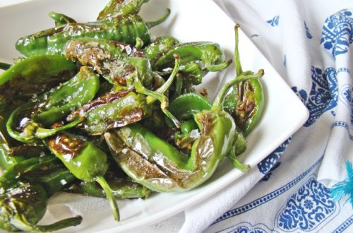 Fried Padron Green Peppers | booksandlavender.com