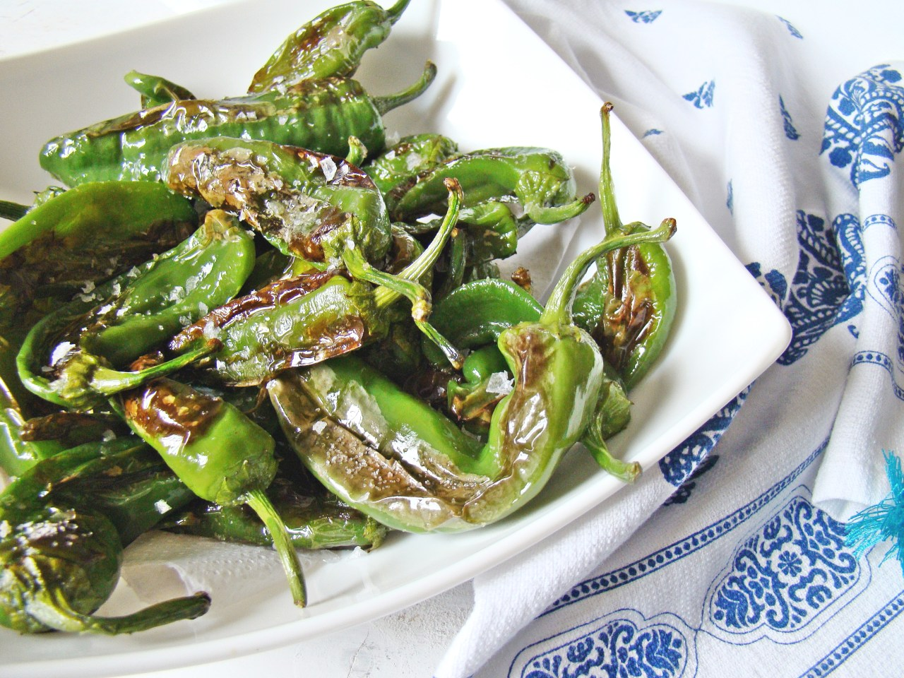 Fried Padron Green Peppers