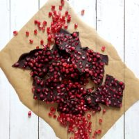Pomegranate Seed Chocolate Bark