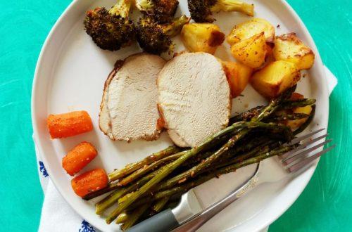 SHEET PAN DINNER - Pork Loin and Veggies (Easy Cleanup!)