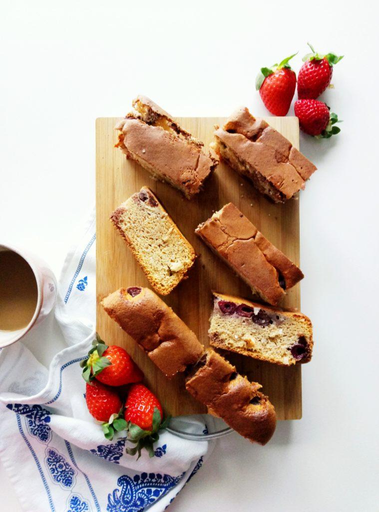 Sheet Cake with Frozen Cherries | booksandlavender.com