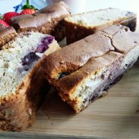 Sheet Cake with Frozen Cherries