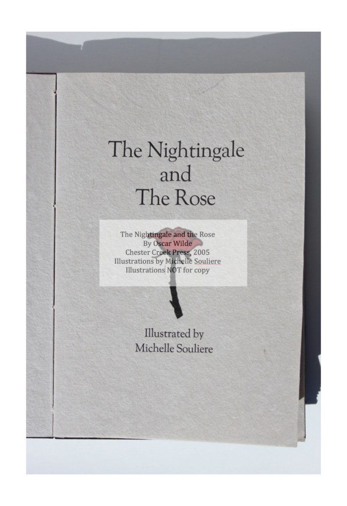 The Nightingale and the Rose, Chester Creek Press, Title Page
