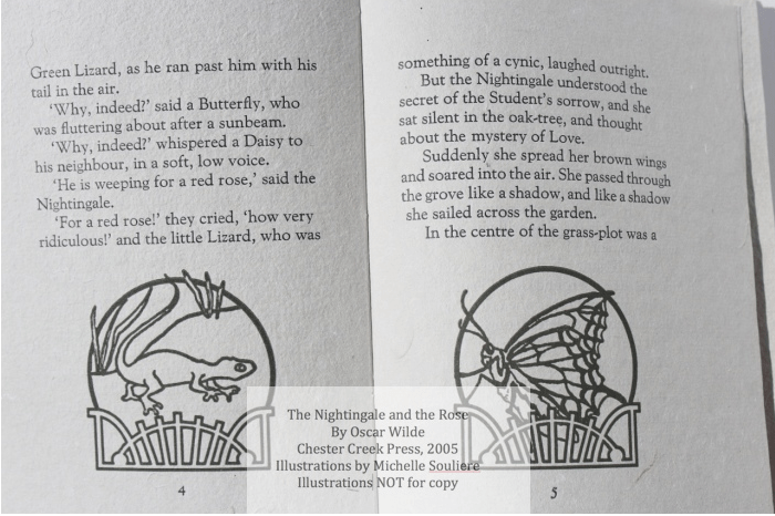 The Nightingale and the Rose, Chester Creek Press, Sample Illustrations #2 with Text