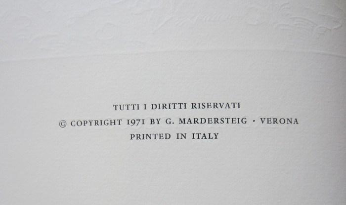 Andria, Editiones Officinae Bodoni, Copyright