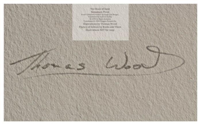 The Book of Sand, Nawakum Press, Macro of Signature