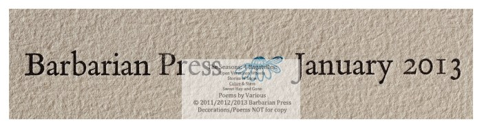 The Seasons: Four Bagatelles, Sweet Hay and Gone: Poems for Summer, Macro of Title Page, Barbarian Press