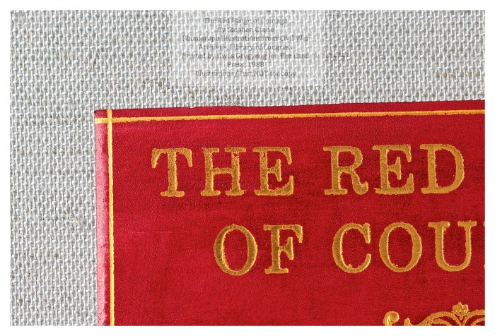 The Red Badge of Courage, Gwasg Gregynog, Macro of Cover