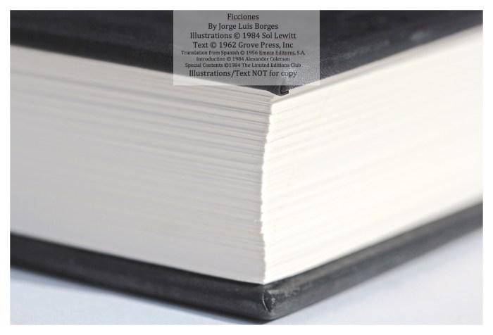 Ficciones, Limited Editions Club, Macro of Spine