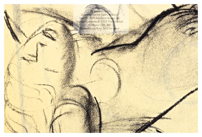 Ulysses, Limited Editions Club, Sample Illustration Group #1, 1 of 4 Macro