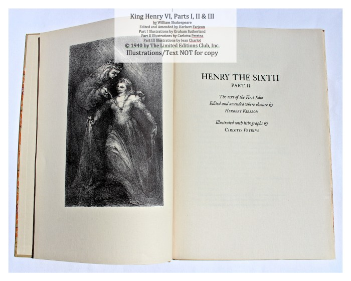 King Henry VI, Part II, Limited Editions Club, Title Page and Frontispiece