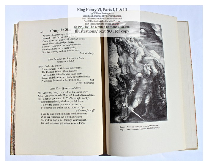 King Henry VI, Part II, Limited Editions Club, Sample Illustration #3 with Text