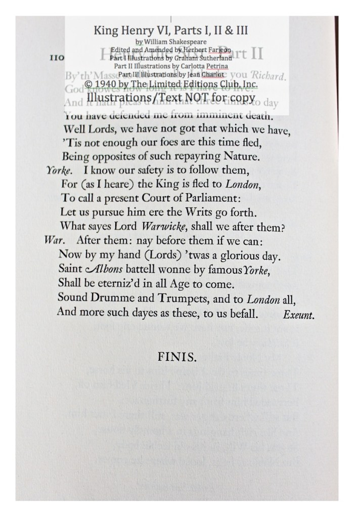 King Henry VI, Part II, Limited Editions Club, Sample Text 2
