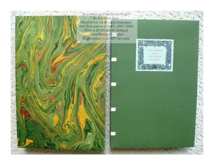 Sir Gawain and the Green Knight, Taller Martin Pescador, Cover and Slipcase