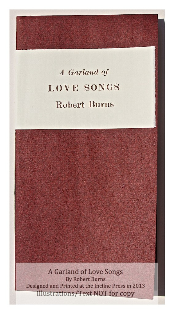A Garland of Love Songs, Incline Press, Cover