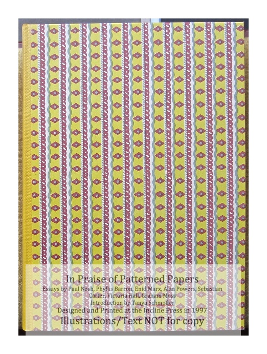 In Praise of Patterned Papers, Incline Press, Cover