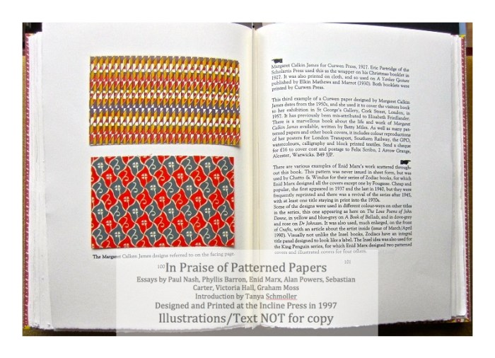 In Praise of Patterned Papers, Incline Press, Sample Papers #4 and text