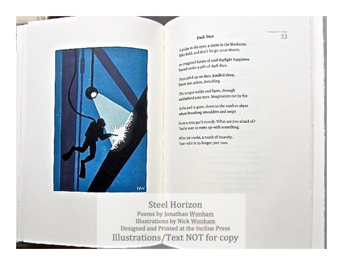 Steel Horizon, Incline Press, Sample Illustration #3 with Text