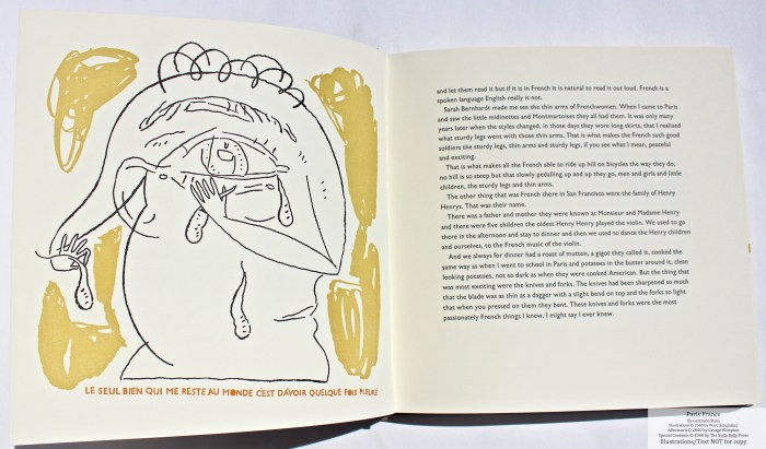 Paris France, Yolla Bolly Press, Sample Illustration #1and Text