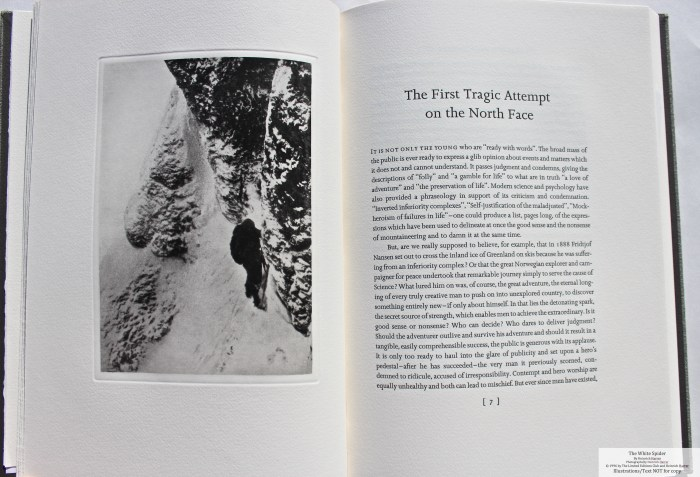The White Spider, Limited Editions Club, Sample Illustration #1 with Text