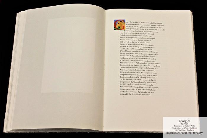 Georgics, Shanty Bay Press, Book Three Initial