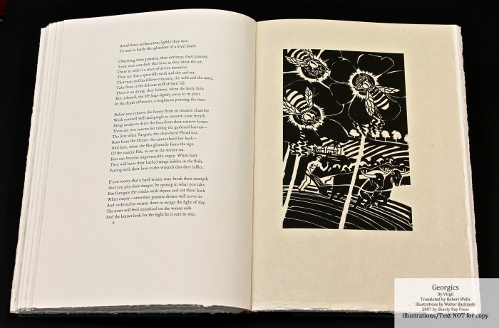 Georgics, Shanty Bay Press, Book Four Woodcut #1