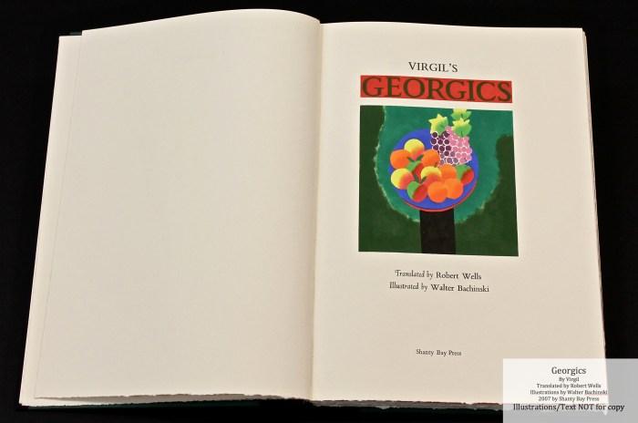 Georgics, Shanty Bay Press, Title Page