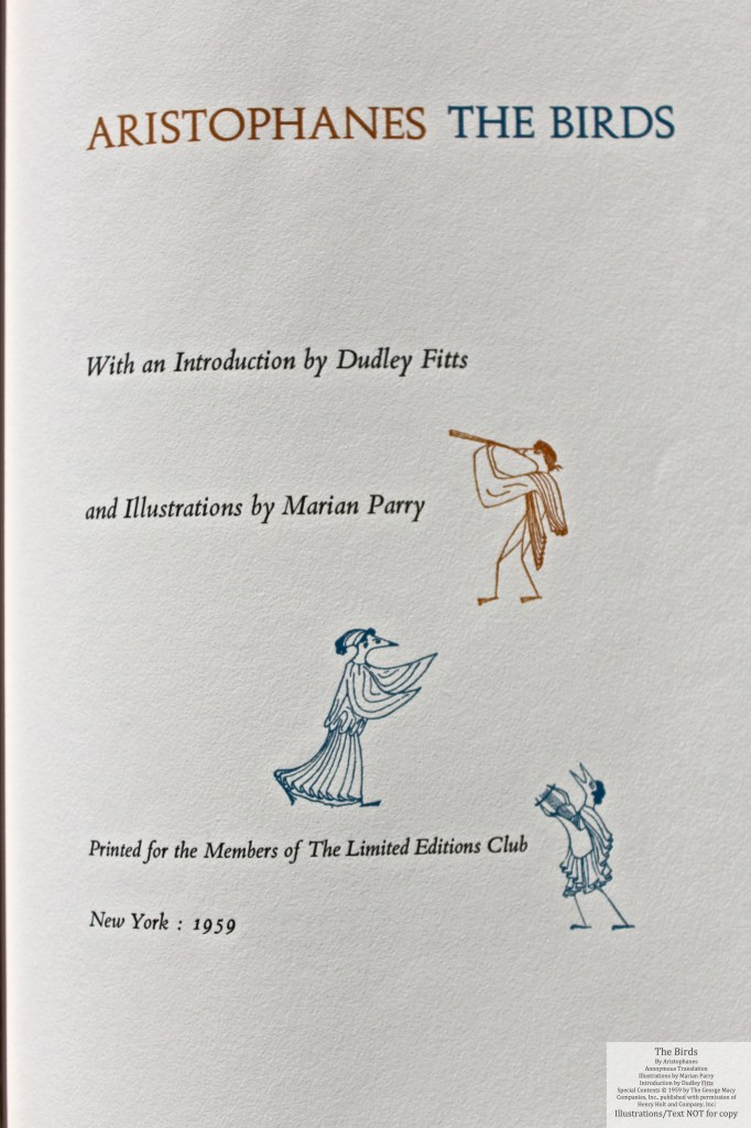 The Birds, Limited Editions Club, Title Page