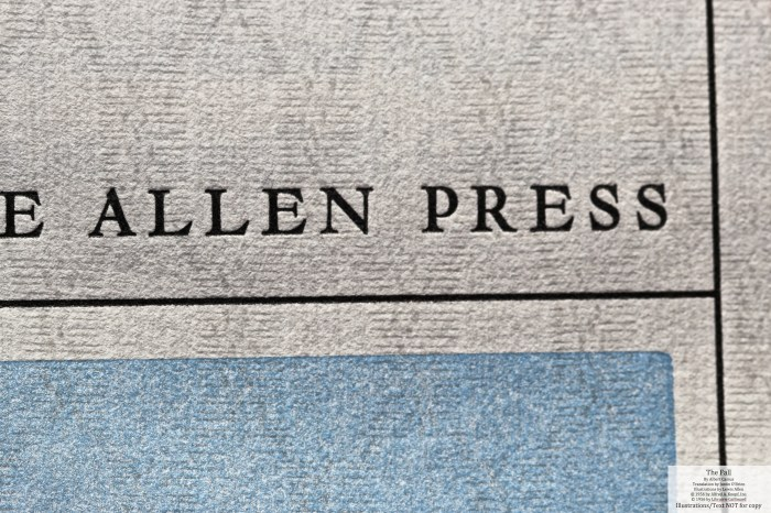 The Fall, Allen Press, Title Page Macro