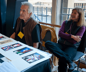 Walter Bachinski and Janis Butler of Shanty Bay Press, from CODEX 2011, Photo from FPBA (http://fpba.com/blog/?tag=walter-bachinski)