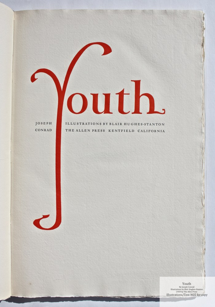 Youth, Allen Press, Title Page