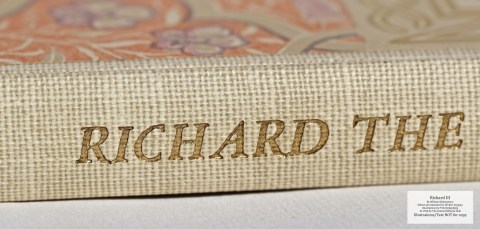 Richard III, Limited Editions Club, Macro of Spine