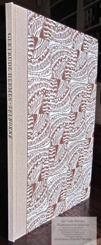 Gertrude Hermes 'Gregynog' Selborne, Gwasg Gregynog, Spine and Cover