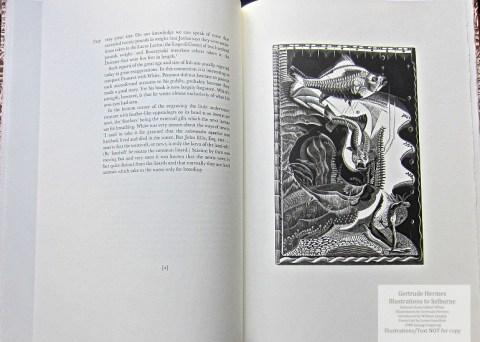 Gertrude Hermes 'Gregynog' Selborne, Gwasg Gregynog, Sample Illustration #1 with Text