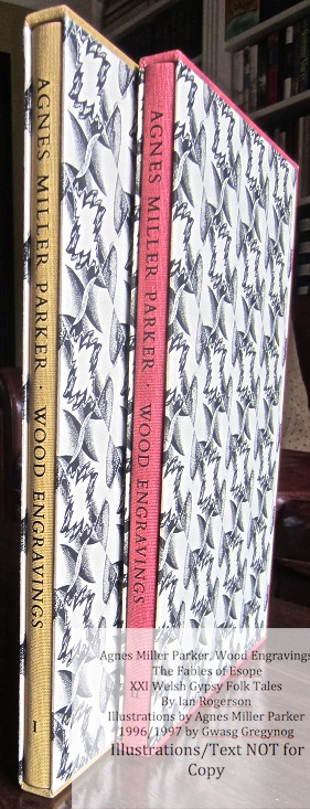 Agnes Miller Parker Wood-Engravings, Gregynog Press, Book Spines and Covers