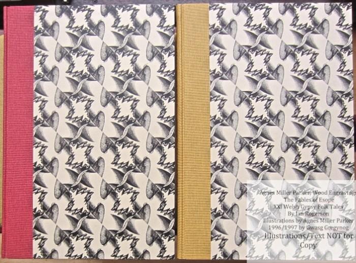 Agnes Miller Parker Wood-Engravings, Gregynog Press, Book Covers